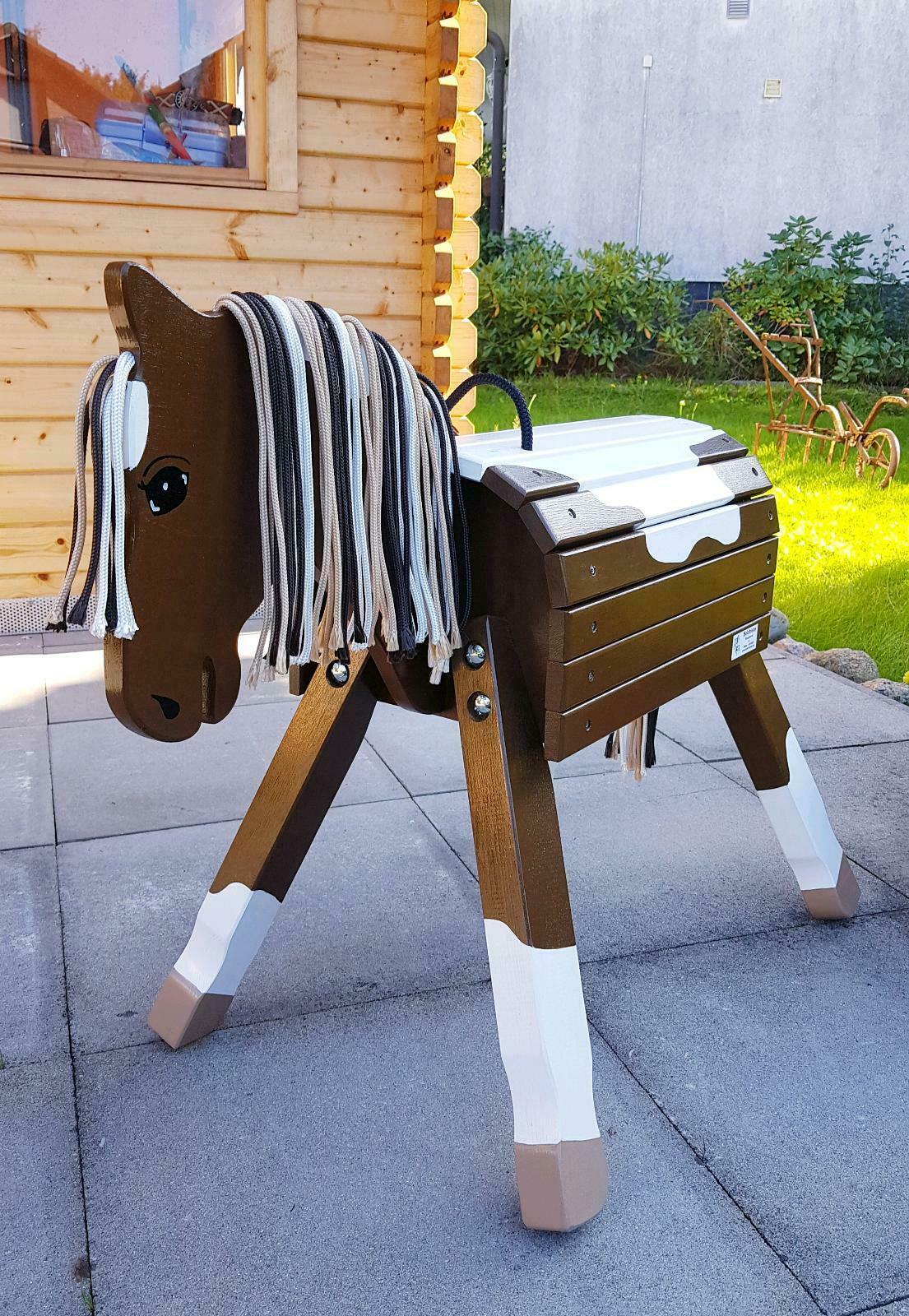 """Pony """"Spike"""" Pinto 50cm oder 60cm in dunkelbraun/weiß, mittelbraun/weiß , beige/weiß oder schwarz/weiß ohne Zubehör"""