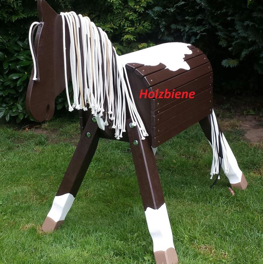 "Pony ""Lucky"" Pinto dunkelbraun/weiß oder mittelbraun/weiß ab 70-100cm Stockmaß"