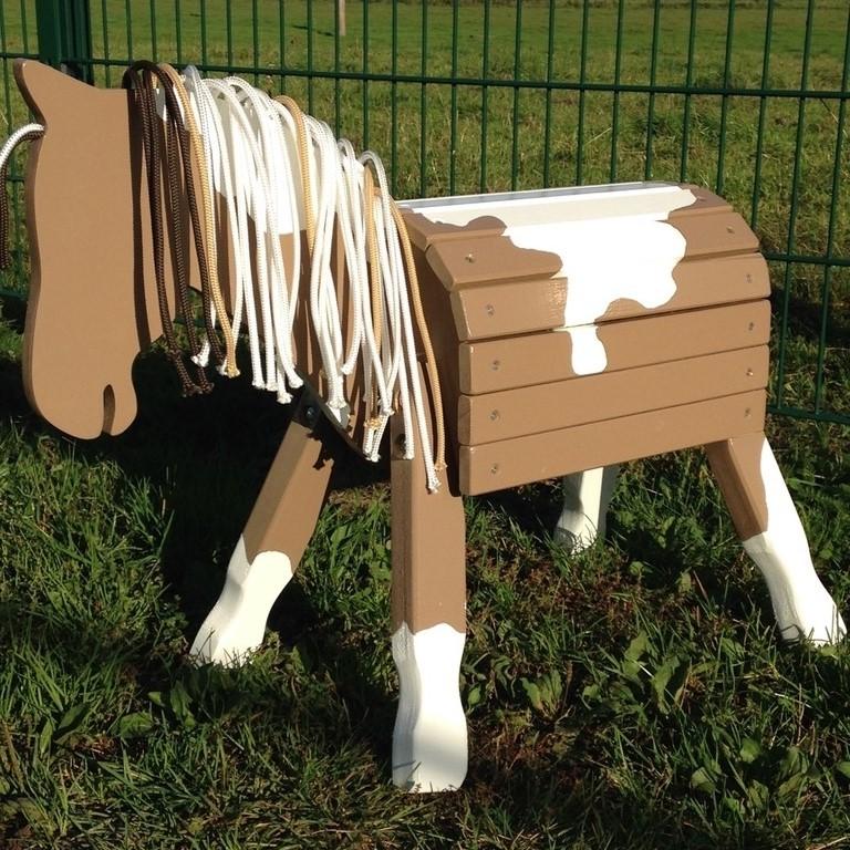 """Pony """"Dabby"""" 34cm Stockmaß als Pinto ohne Augen und Nüstern"""