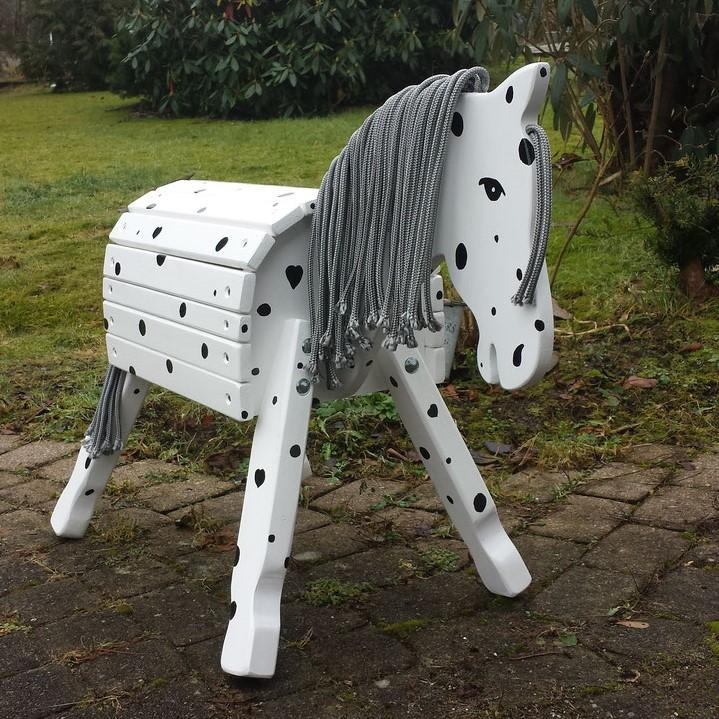 """Pony """"Spike"""" 50cm gefleckt als kl.Onkel inkl. Augen und Nüstern"""